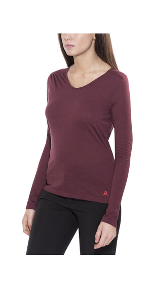 Salomon Ellipse LS Tee Women pinot noir